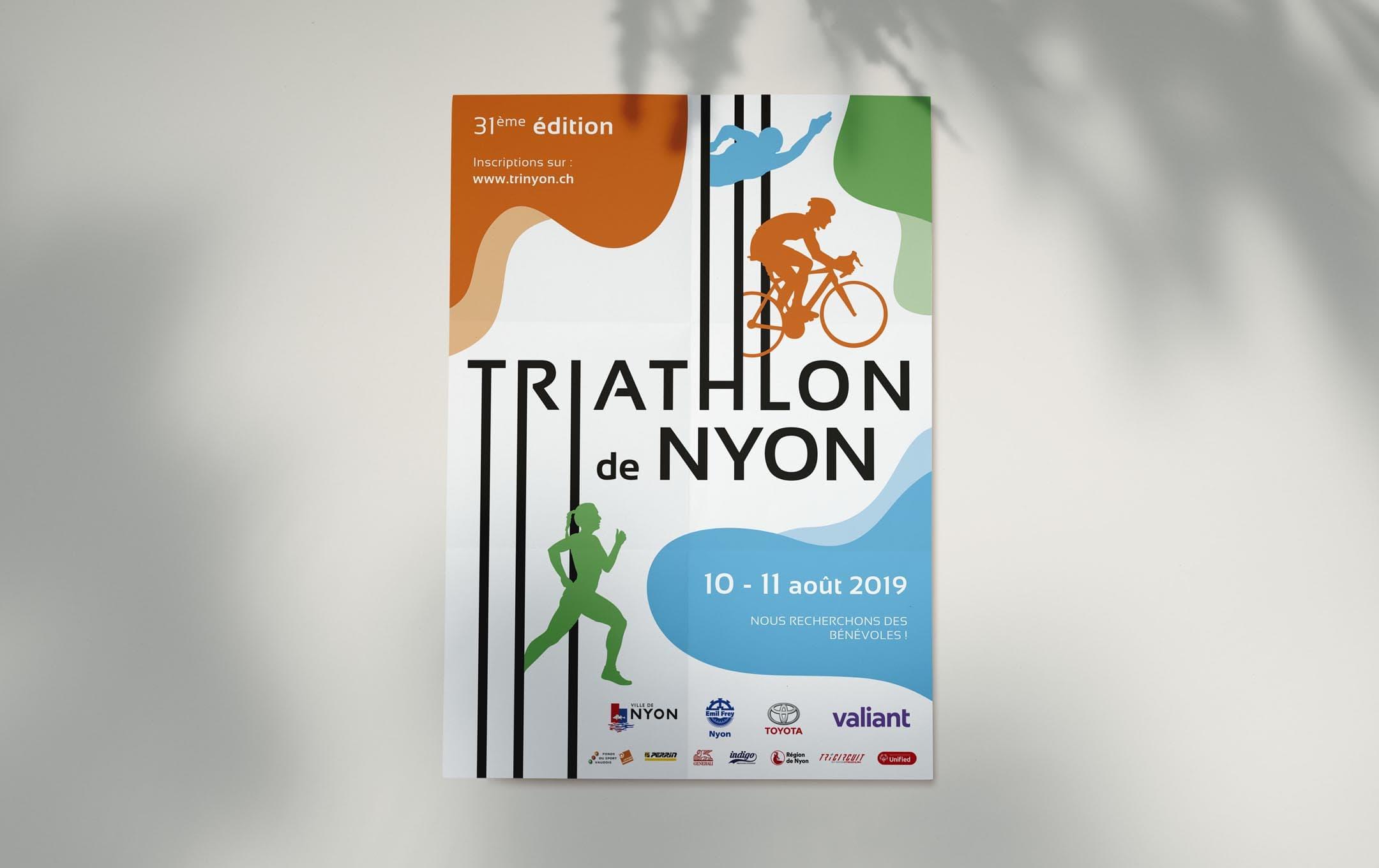 Habefast Etude De Cas Triathlon Nyon Print Affiche