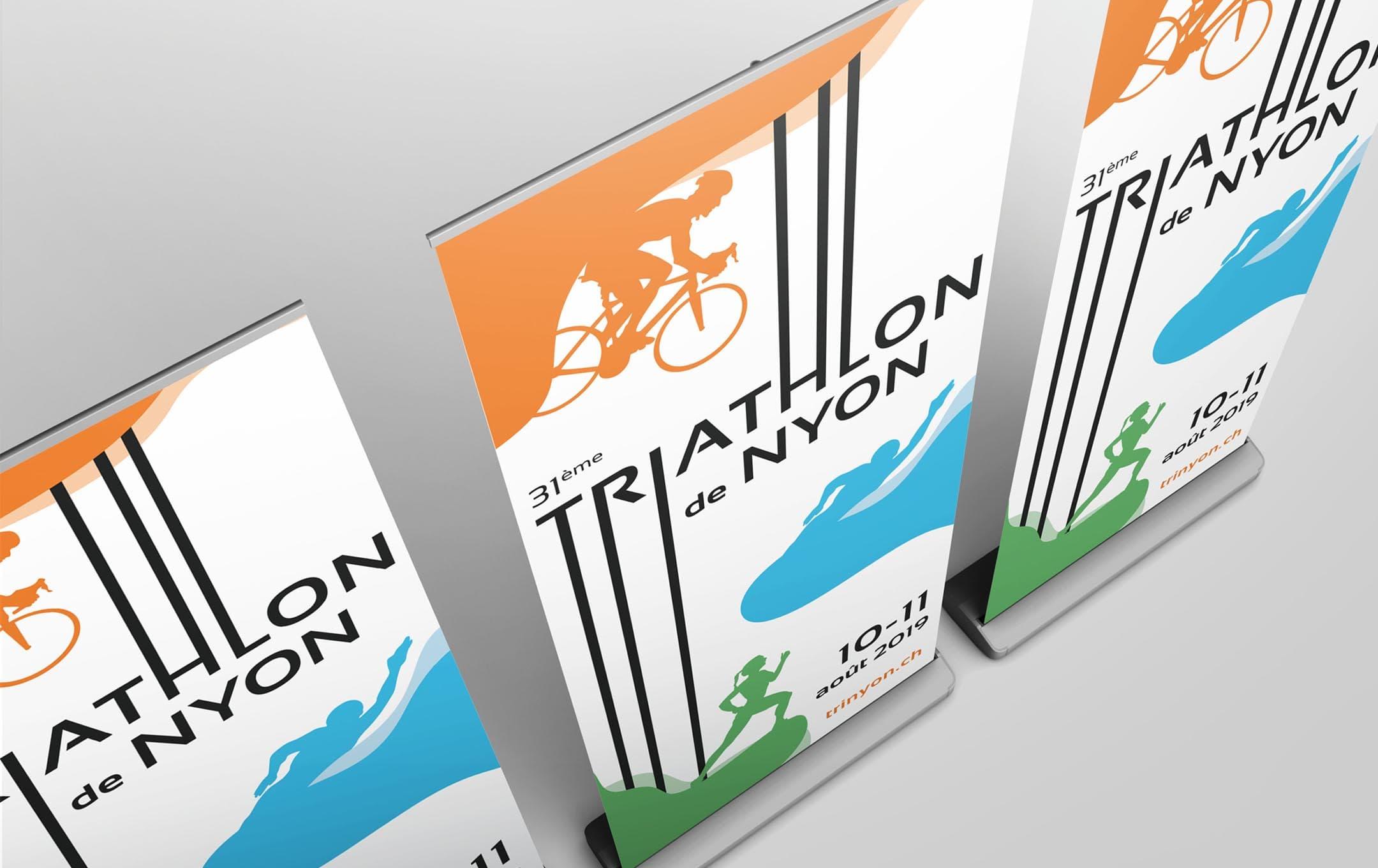 Habefast Etude De Cas Triathlon Nyon Print Kakemonos