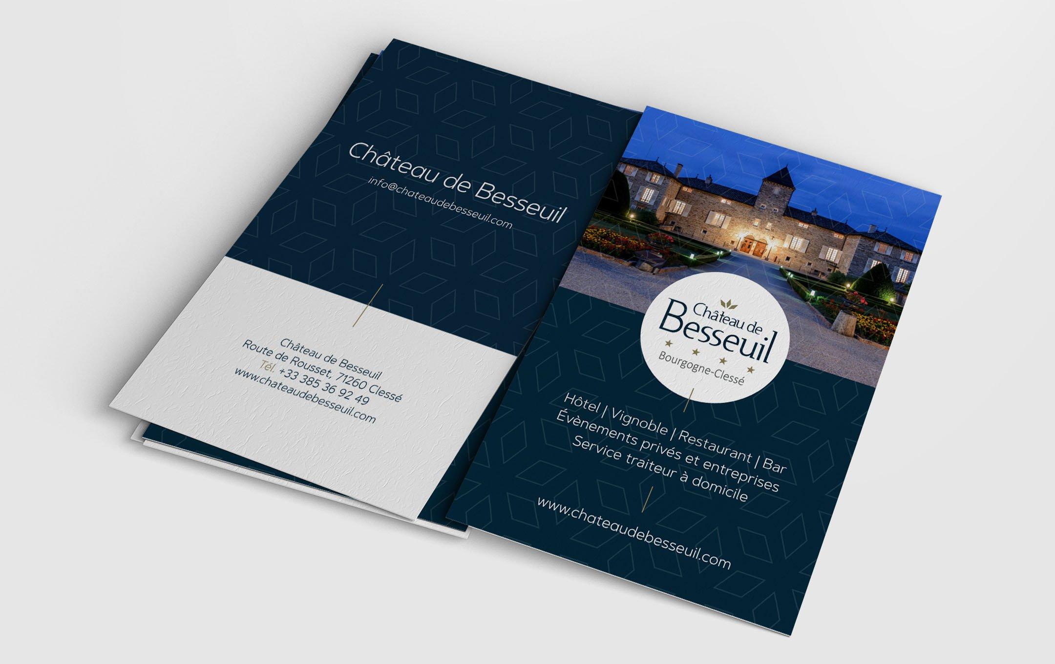 Habefast Etude De Cas Chateau Besseuil Print Carte Visites