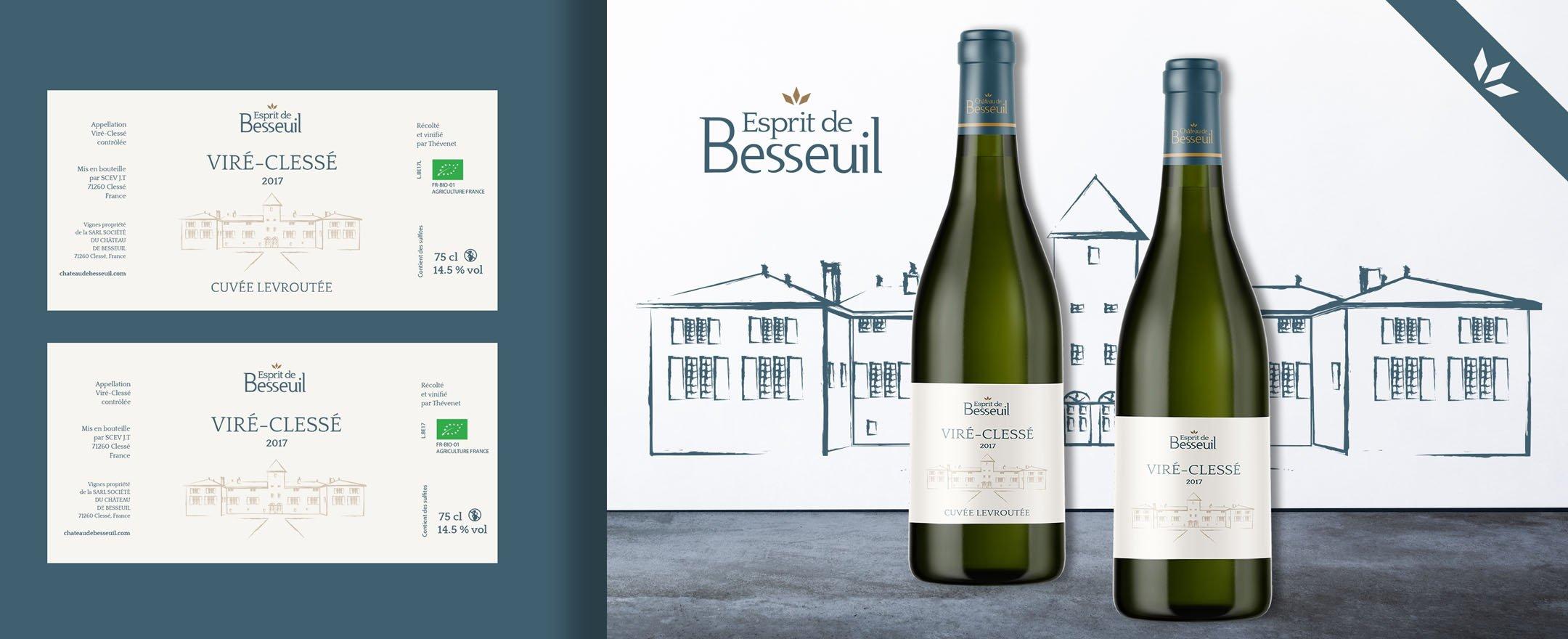 Habefast Etude De Cas Chateau Besseuil Print Etiquettes Vin 01